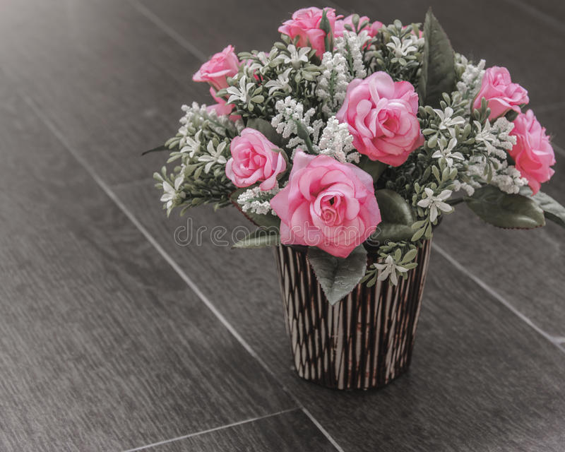 Klingeryt róży kwiat obrazy stock