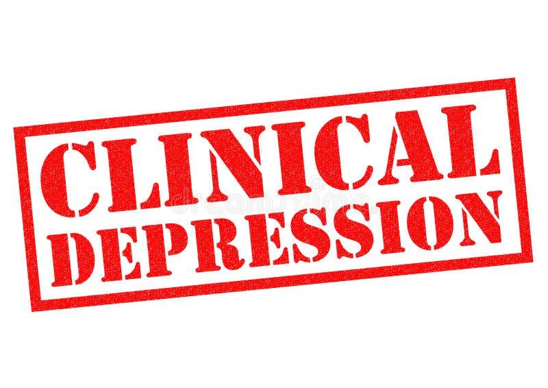Kliniczna depresja ilustracja wektor