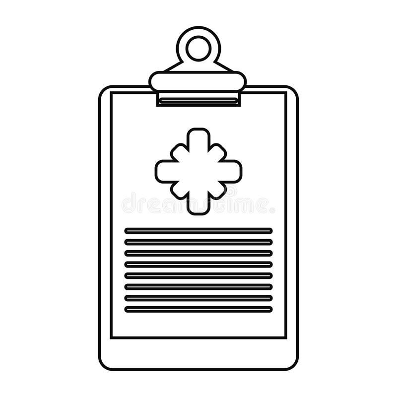 Kliniek van het klembord verdunt de medische rapport lijn vector illustratie