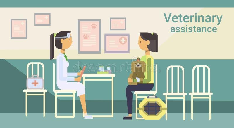 Kliniek van medische Artsen de Veterinaire Cure Animal In van Veterinaire Hulp stock illustratie