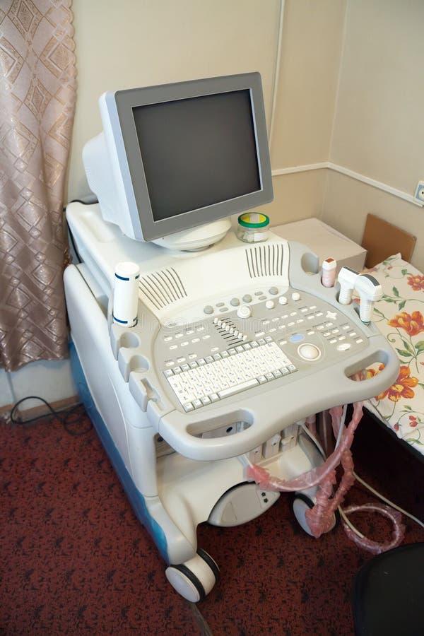 kliniki wyposażenia medyczny ultradźwięk obraz stock