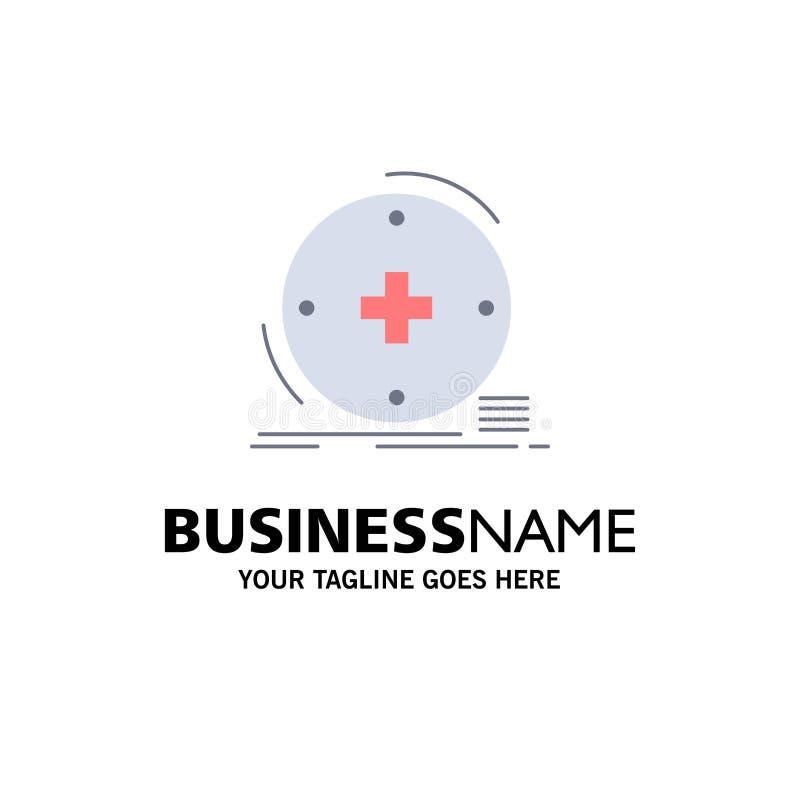 Klinisch, digital, Gesundheit, Gesundheitswesen, Fernmedizin flacher Farbikonen-Vektor stock abbildung