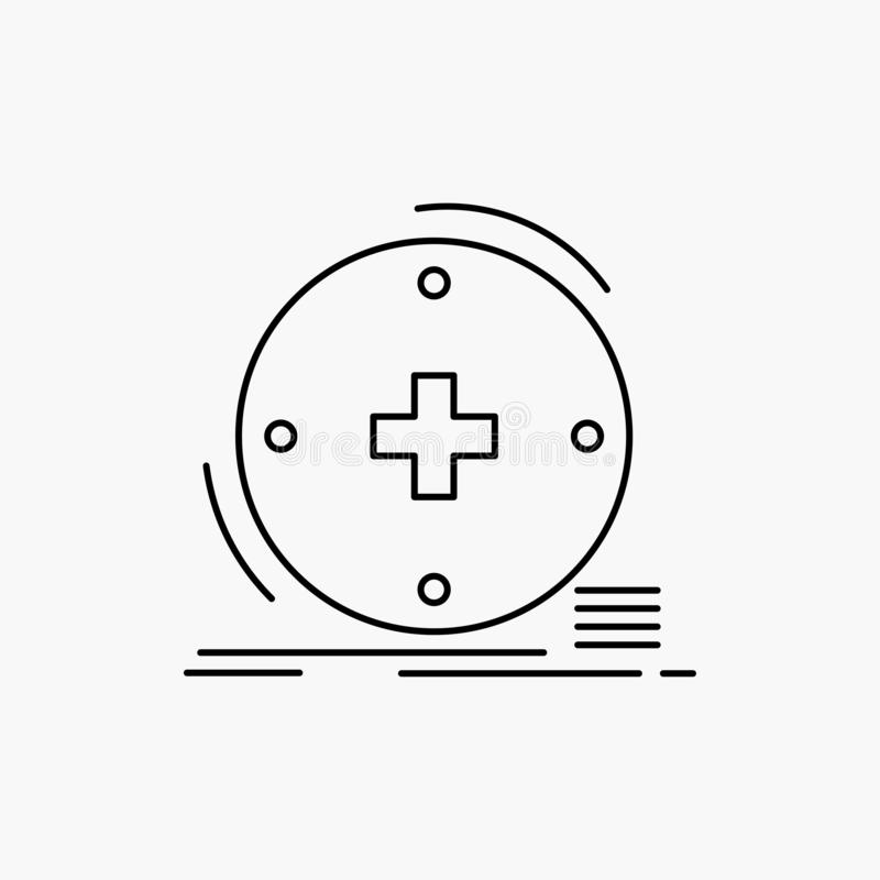 Klinisch, digital, Gesundheit, Gesundheitswesen, Fernmedizin Linie Ikone Vektor lokalisierte Illustration stock abbildung