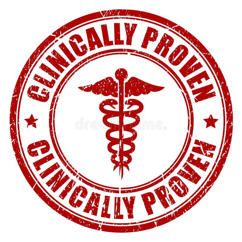 Klinisch geprüft stock abbildung