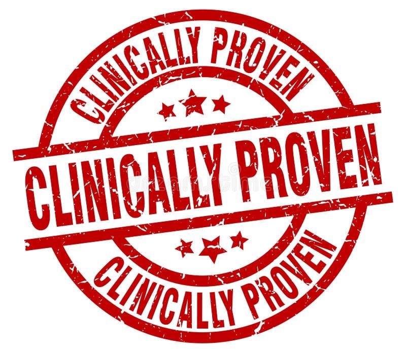 Klinisch nachgewiesener Stempel stock abbildung
