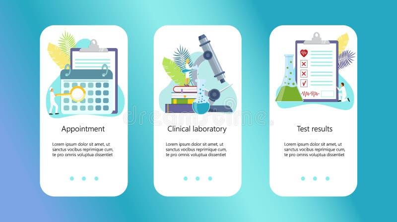 Klinisk mitt, online-apotek royaltyfri illustrationer