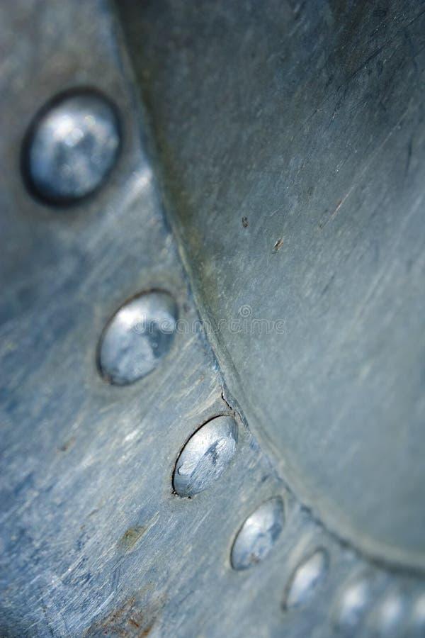 Klinknagels op metaal royalty-vrije stock foto's
