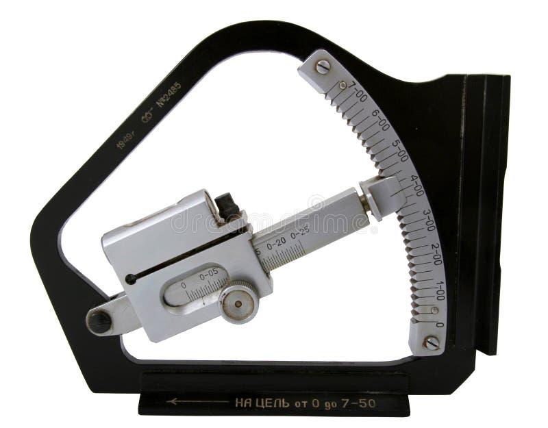 Klinometer des getrennten Artilleristen stockfotos