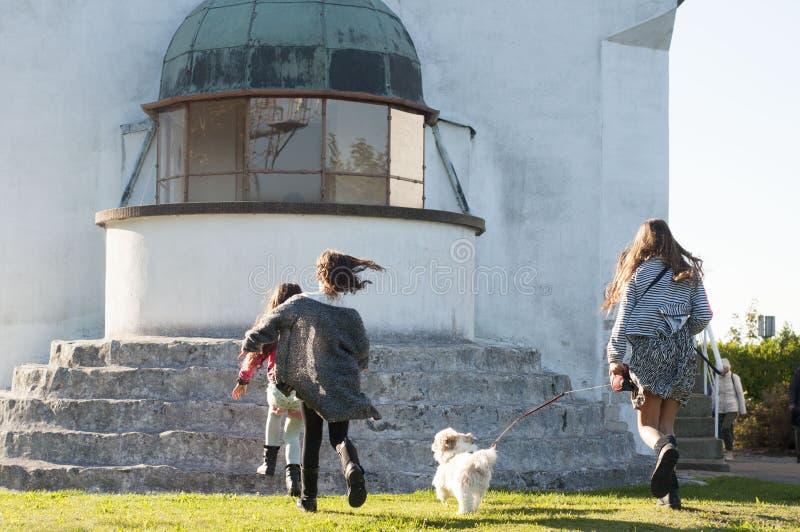 Klint de stevns de phare photos libres de droits