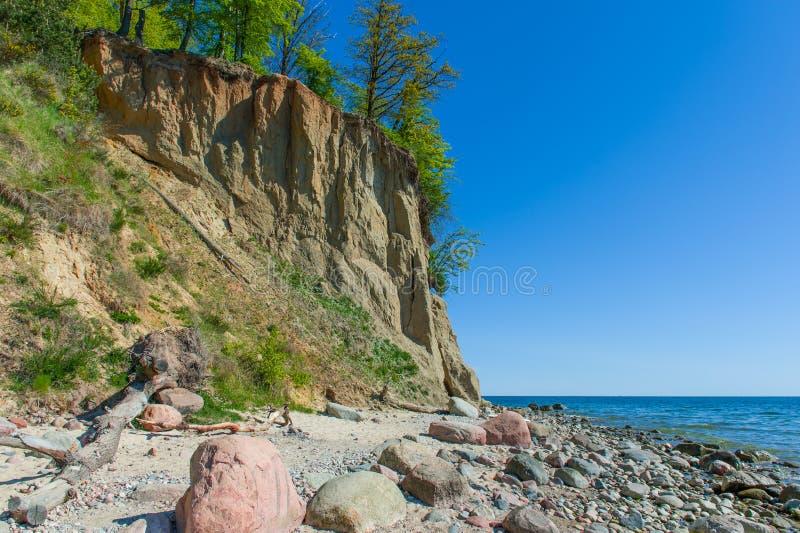 Klip van Orlowo bij Oostzee, Polen stock foto
