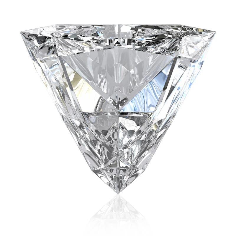klipp den trilliant diamanten royaltyfri bild