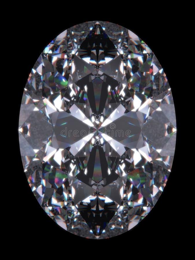 klipp diamantovalen stock illustrationer