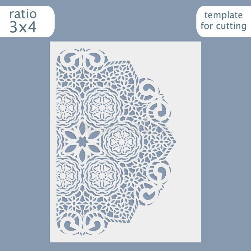 klipp för laser-bröllop för den bitande mallen kortet för hälsningen för inbjudan royaltyfri illustrationer