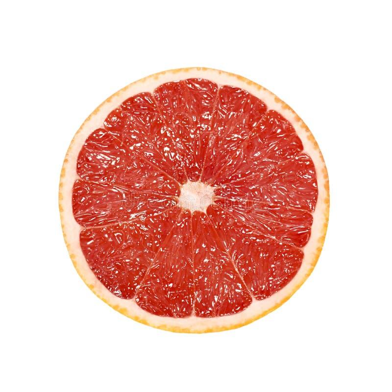 Klipp grapefrukter som isoleras på vit royaltyfri foto
