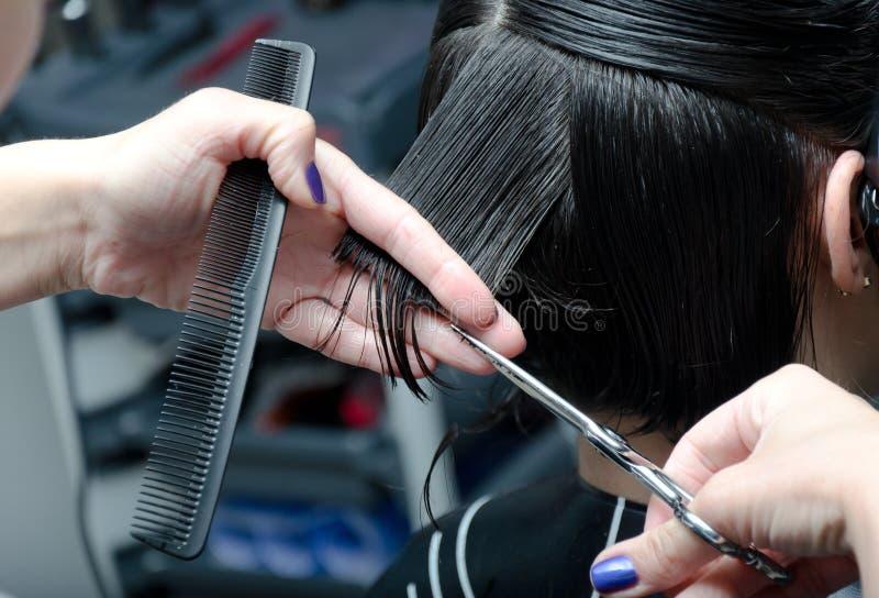 klipp hår arkivfoto