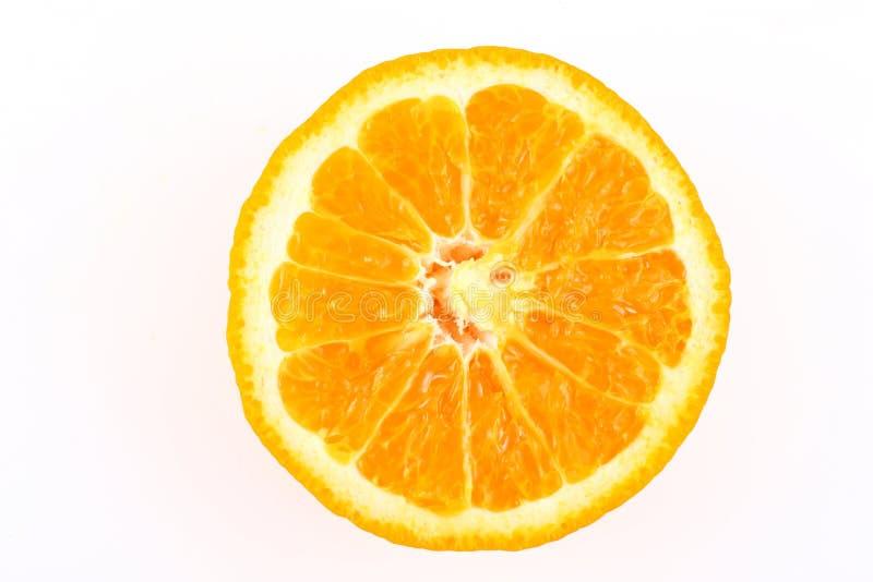 klipp half orangen royaltyfri foto