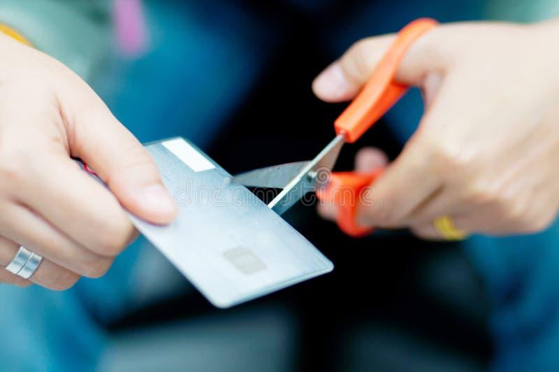 Klipp kreditkorten royaltyfria bilder