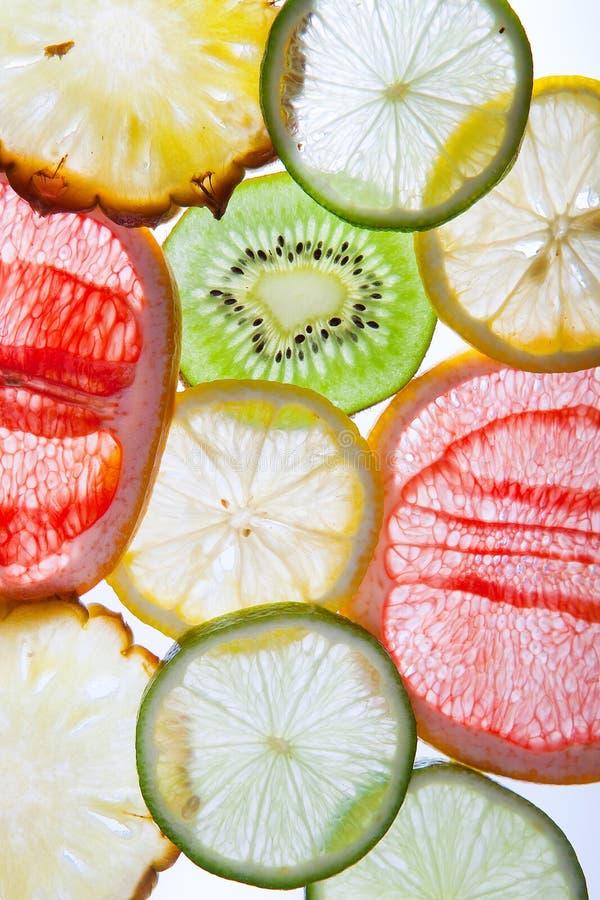 klipp ny frukt arkivbilder
