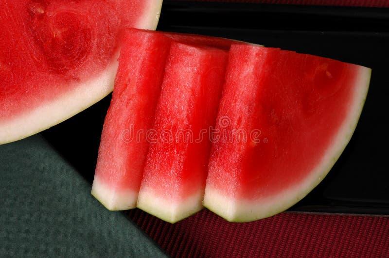 klipp seedless vattenmelonwedges royaltyfri fotografi