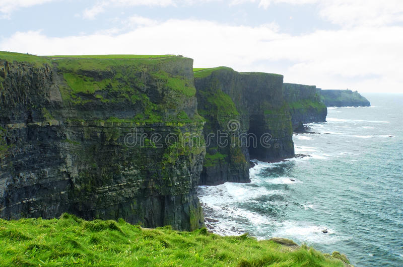 Klippa av Moher, Irland royaltyfri bild