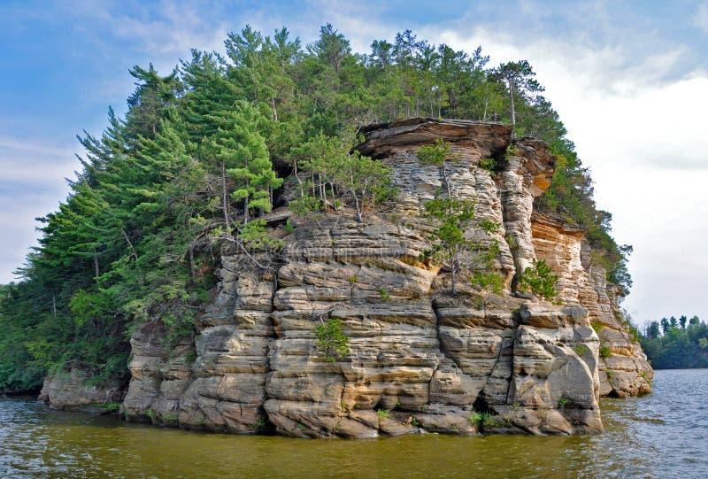 Klippa i Wisconsin Dells royaltyfria foton