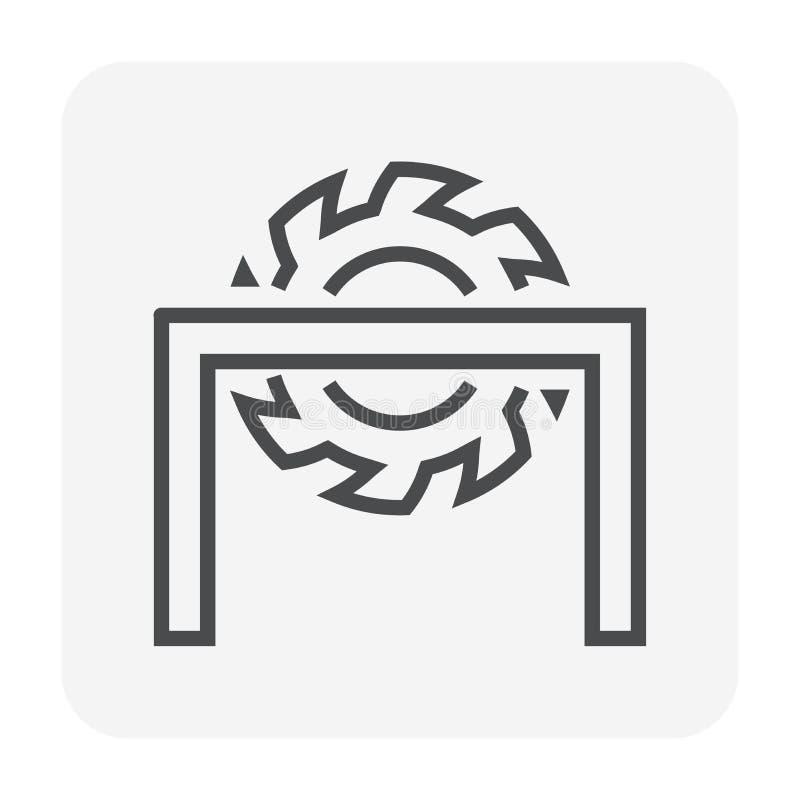 Klippa utrustningsymbolen royaltyfri illustrationer