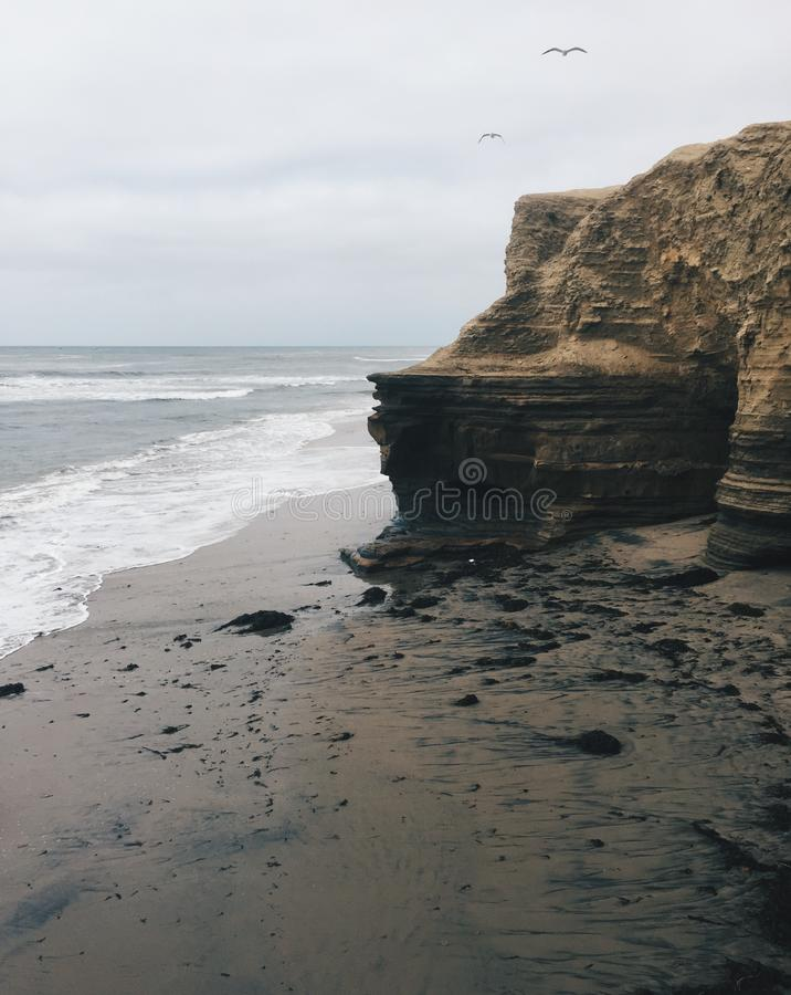 Klippen in San Diego California stockfoto