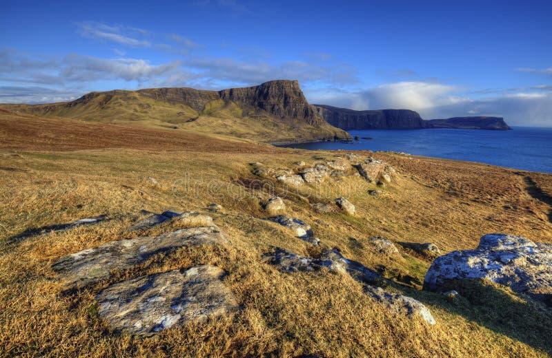 Klippen, Schotland stock afbeeldingen