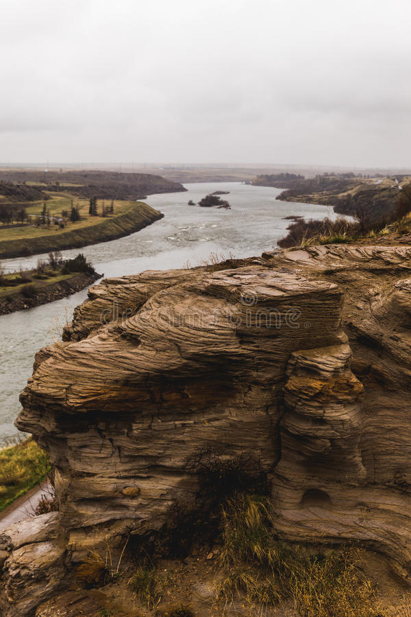 Klippen van de Rivier van Missouri stock foto's