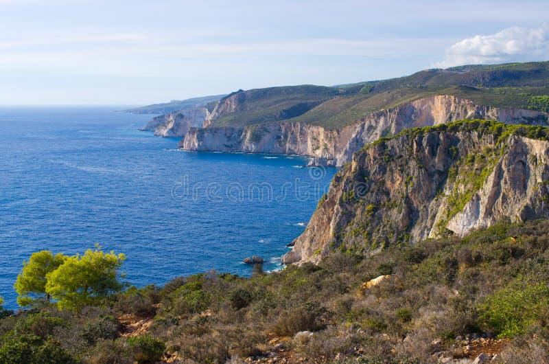 Klippen van Keri, Zakynthos, Griekenland royalty-vrije stock foto's