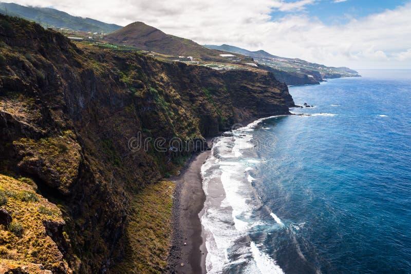 Klippen van La Palma, Canarische Eilanden royalty-vrije stock foto