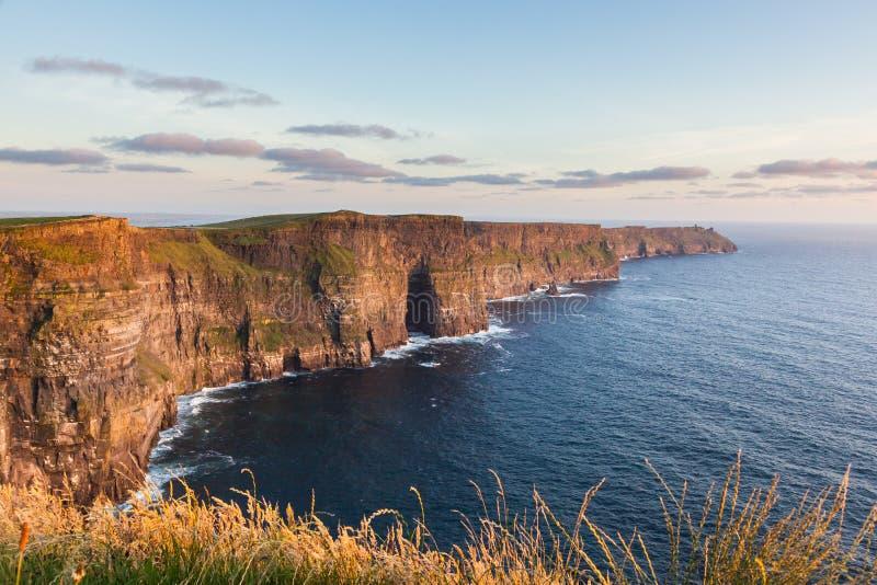 Klippen van Moher Ierland royalty-vrije stock afbeelding