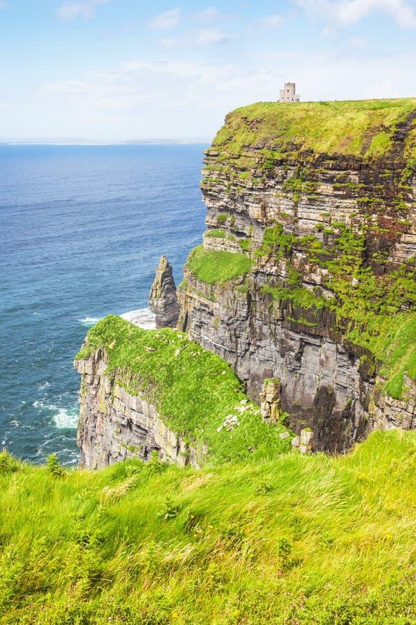 Klippen van Moher in Ierland royalty-vrije stock afbeeldingen
