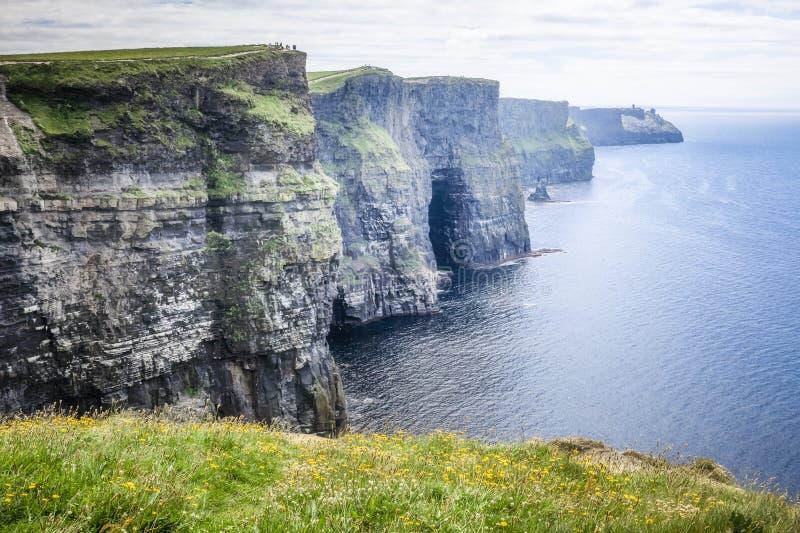 Klippen van Moher Ierland stock afbeeldingen