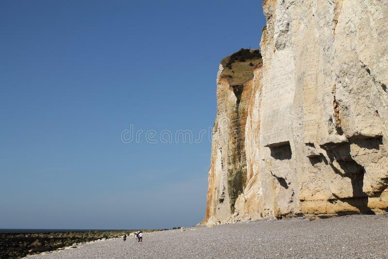Klippen van Normandië stock fotografie