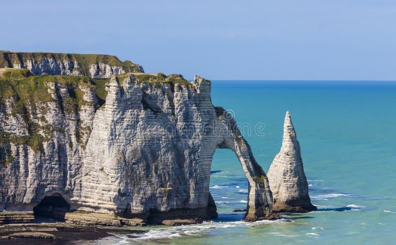 Klippen von Etretat, Normandie, Frankreich lizenzfreies stockfoto