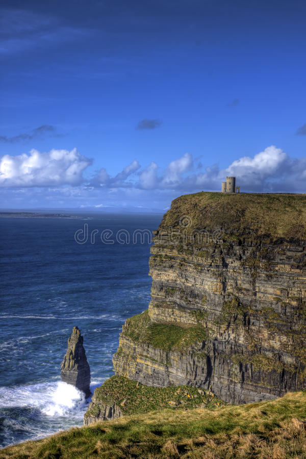 Klippen von Moher, Irland. stockbild