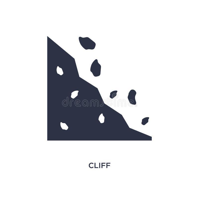 klippenpictogram op witte achtergrond Eenvoudige elementenillustratie van Aardconcept royalty-vrije illustratie