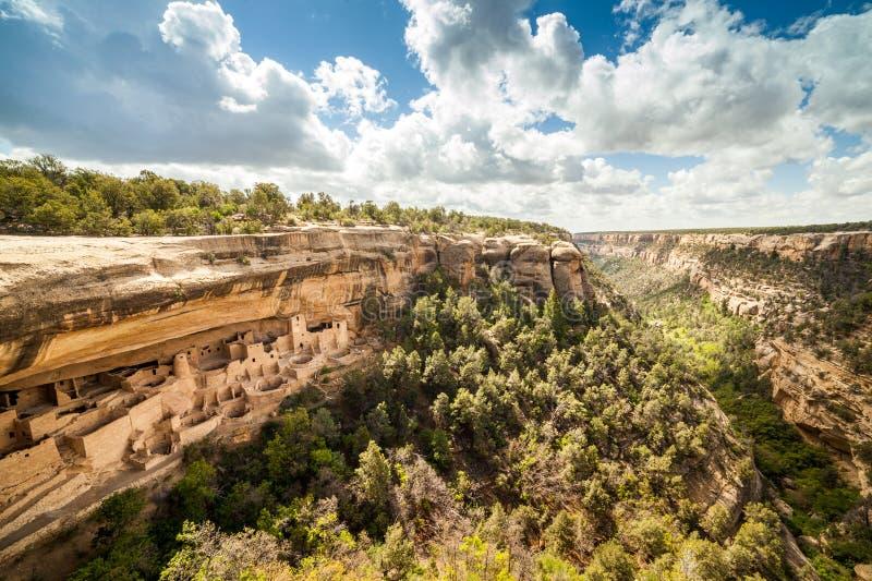 Klippenwoningen in Mesa Verde National Parks, Co, de V.S. stock foto