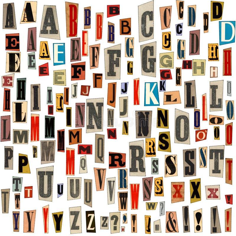 klipper den gammala individuella bokstaven för ephemera royaltyfri bild