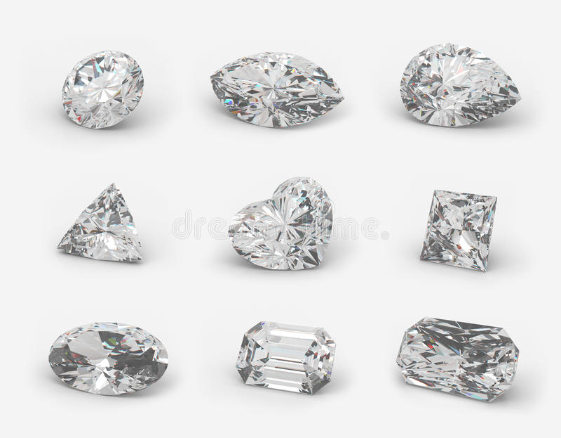 klipper diamanter royaltyfri illustrationer