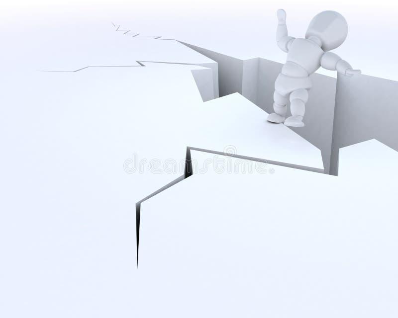 klippkantman stock illustrationer