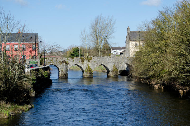 Klippning längs floden Boyne, Irland royaltyfri fotografi