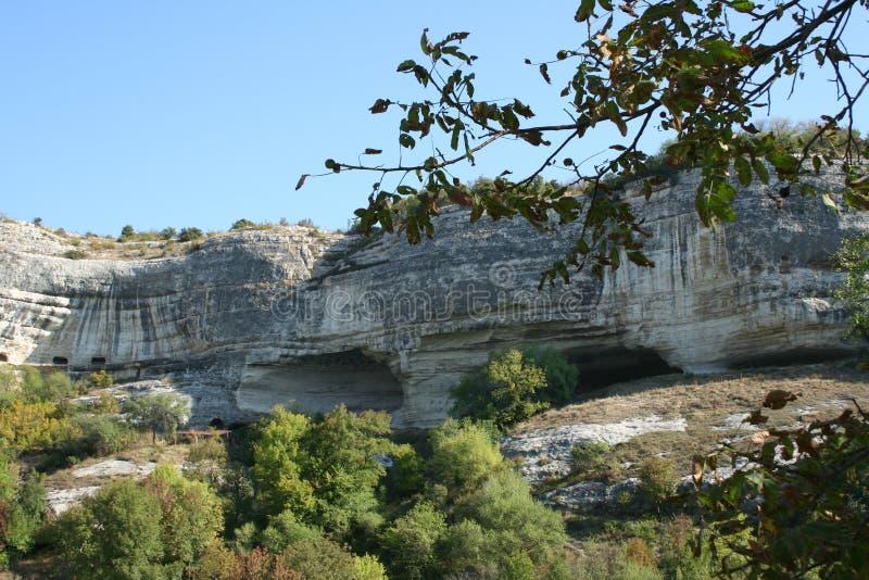 Klippor av det bergiga Krimet arkivfoto