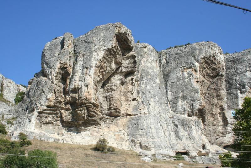 Klippor av det bergiga Krimet royaltyfria foton
