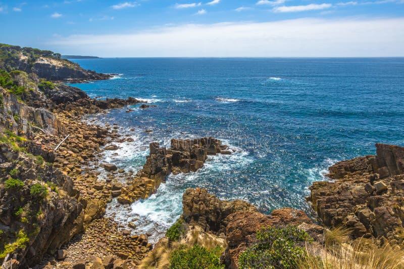 Klippor av Eden, New South Wales, Australien arkivfoto
