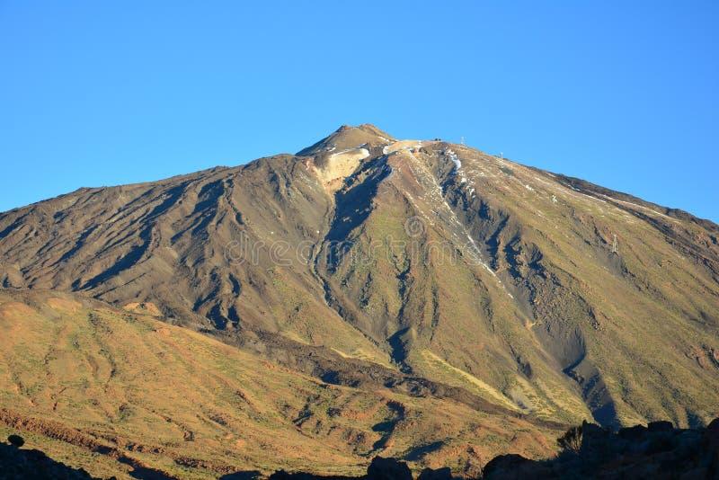 Klippor för berglavavulkan vaggar plato, soluppgång i bergen, berglandskapet, landskapet, Teide royaltyfria bilder