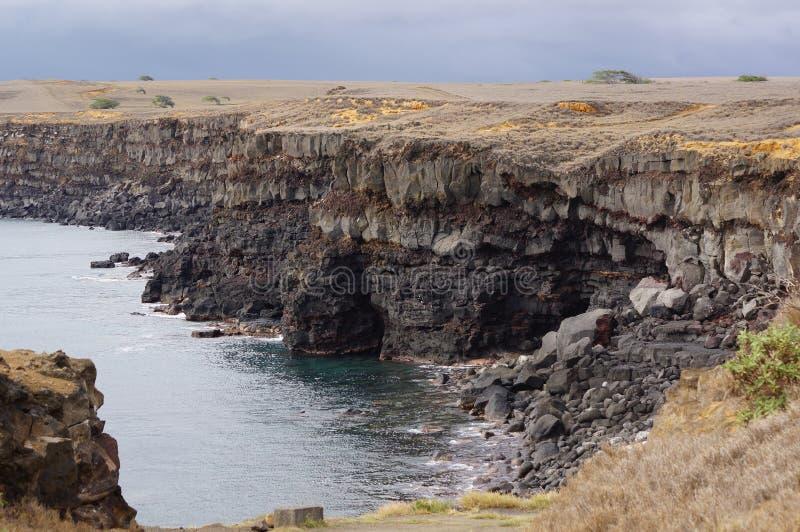 Klippor i Hawaii arkivbilder