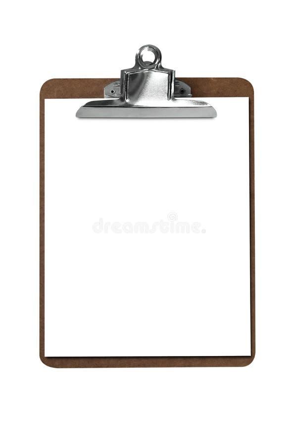 Klippvorstand mit Papier lizenzfreie stockbilder