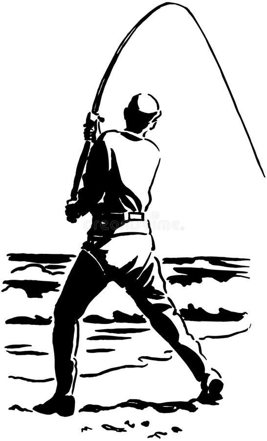 Klipsk fiskare vektor illustrationer